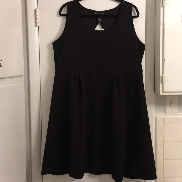 5f1bf4f3c4c0d Lane Bryant textured Black Dress w  back cutout
